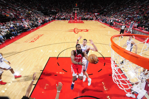 Harden nets 34, Rockets win 4th straight 132-112 over Kings