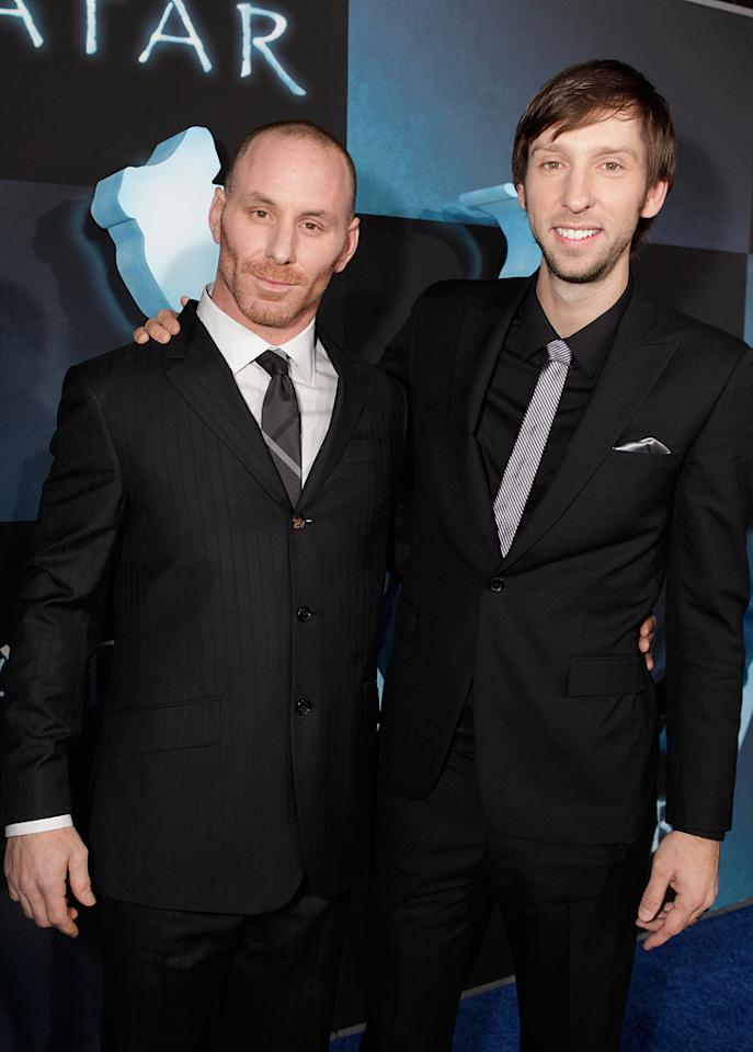 """<a href=""""http://movies.yahoo.com/movie/contributor/1804735263"""">Matt Gerald</a> and <a href=""""http://movies.yahoo.com/movie/contributor/1808537119"""">Joel David Moore</a> at the Los Angeles premiere of <a href=""""http://movies.yahoo.com/movie/1809804784/info"""">Avatar</a> - 12/16/2009"""