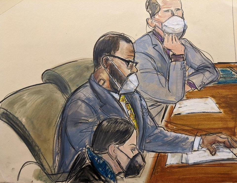 R Kelly has been accused of sex trafficking, exploitation, bribery, racketeering and coercion (AP)
