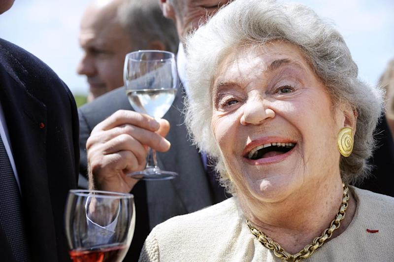 Owner of the French winery Chateau Mouton Rothschild Philippine de Rothschild smiles on June 21, 2009 during the opening ceremony of the international wine fair Vinexpo in Bordeaux, southwestern France