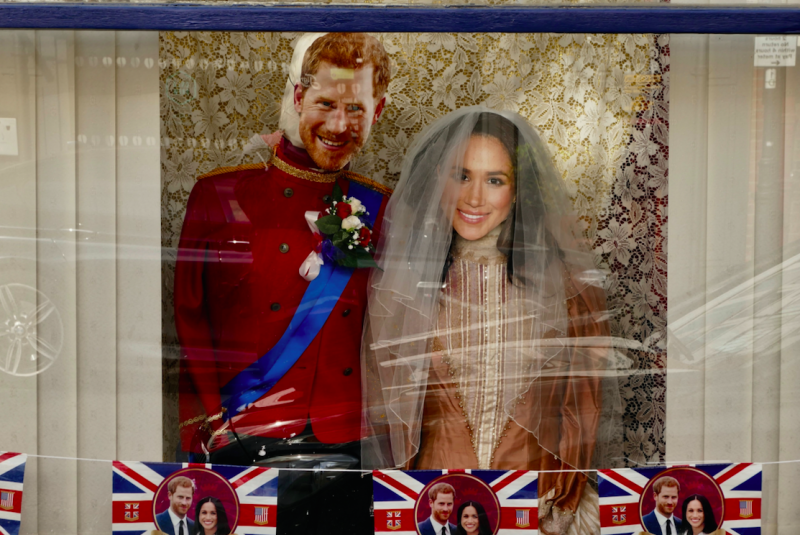 Shops in Windsor are getting ready for the royal wedding on Saturday (Picture: Rex)