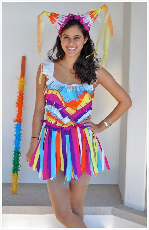 """<p>This cute Halloween costume for teenage girls gives you the perfect opportunity to crack a few mom jokes including """"Didn't I do a <em>bang up</em> job?""""</p><p><strong>Get the tutorial at <a href=""""https://camillestyles.com/living/diy/diy-pinata-costume/"""" rel=""""nofollow noopener"""" target=""""_blank"""" data-ylk=""""slk:Camille Styles"""" class=""""link rapid-noclick-resp"""">Camille Styles</a>.</strong></p><p><strong><a class=""""link rapid-noclick-resp"""" href=""""https://www.amazon.com/iiniim-Womens-Sleeveless-Leotard-Bodysuit/dp/B075KVP3KY/?tag=syn-yahoo-20&ascsubtag=%5Bartid%7C10050.g.22118522%5Bsrc%7Cyahoo-us"""" rel=""""nofollow noopener"""" target=""""_blank"""" data-ylk=""""slk:SHOP BODYSUIT"""">SHOP BODYSUIT</a></strong></p>"""