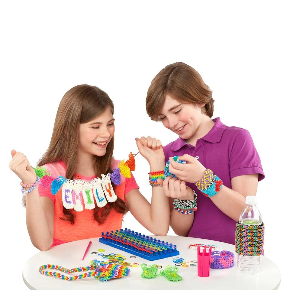 <p>The <span>Cra-Z-Loom Super Loom Kit</span> ($20) goes beyond just making bracelets. The genius design also works to create cuffs, cell phone cases, bottle sleeves, banners, and more.</p>