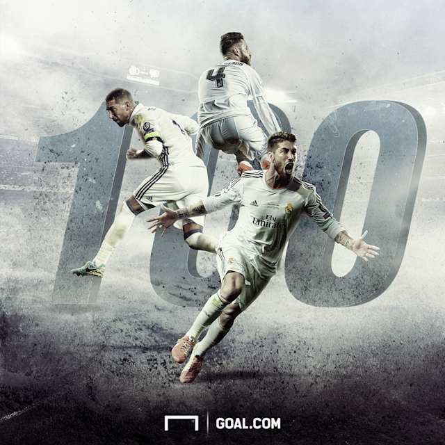 Ramos 100 UCL apps