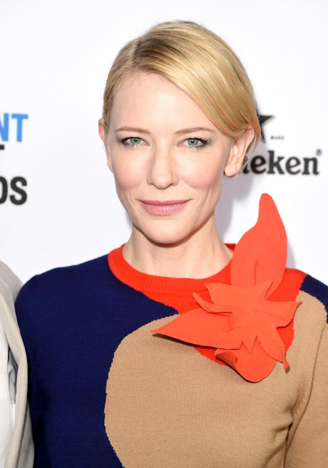 <p>Cate Blanchett attends the 2016 Film Independent Filmmaker Grant and Spirit Award Nominees Brunch at BOA Steakhouse on Jan. 9, 2016, in West Hollywood, Calif. (Photo: Getty Images) </p>