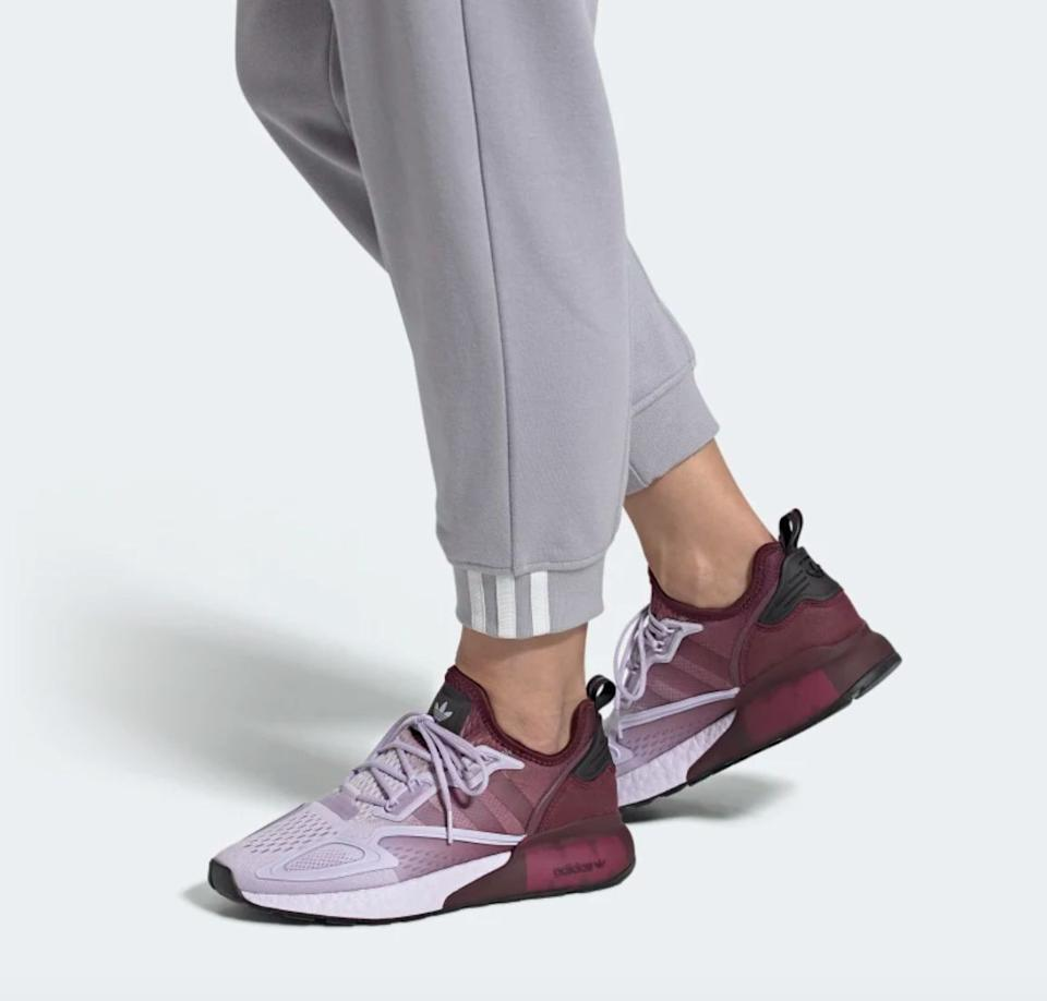 """<a href=""""https://fave.co/2DcFGFP"""" rel=""""nofollow noopener"""" target=""""_blank"""" data-ylk=""""slk:Adidas"""" class=""""link rapid-noclick-resp"""">Adidas</a> has an <a href=""""https://fave.co/2EVbYcl"""" rel=""""nofollow noopener"""" target=""""_blank"""" data-ylk=""""slk:entire section of its site"""" class=""""link rapid-noclick-resp"""">entire section of its site</a> dedicated to its efforts to help with coronavirus relief. The brand is helping make 18,000 3D-printed face shields per week for health care workers and donating over $3 million to the <a href=""""https://www.who.int/emergencies/diseases/novel-coronavirus-2019/donate"""" rel=""""nofollow noopener"""" target=""""_blank"""" data-ylk=""""slk:WHO&rsquo;s COVID-19 Solidarity Response Fund"""" class=""""link rapid-noclick-resp"""">WHO&rsquo;s COVID-19 Solidarity Response Fund</a>. The brand is also giving $2 for every pack of <a href=""""https://fave.co/2XARmfV"""" rel=""""nofollow noopener"""" target=""""_blank"""" data-ylk=""""slk:face masks"""" class=""""link rapid-noclick-resp"""">face masks</a> (which are currently out of stock) sold to the <a href=""""https://www.savethechildren.org/us/what-we-do/emergency-response/coronavirus-outbreak"""" rel=""""nofollow noopener"""" target=""""_blank"""" data-ylk=""""slk:Save The Children&rsquo;s Global Coronavirus Response Fund"""" class=""""link rapid-noclick-resp"""">Save The Children&rsquo;s Global Coronavirus Response Fund</a>. You can keep an eye out for when they're back in stock. <br><br><a href=""""https://fave.co/3km8lwc"""" rel=""""nofollow noopener"""" target=""""_blank"""" data-ylk=""""slk:Find these shoes for $150 at Adidas"""" class=""""link rapid-noclick-resp""""> Find these shoes for $150 at Adidas</a>."""