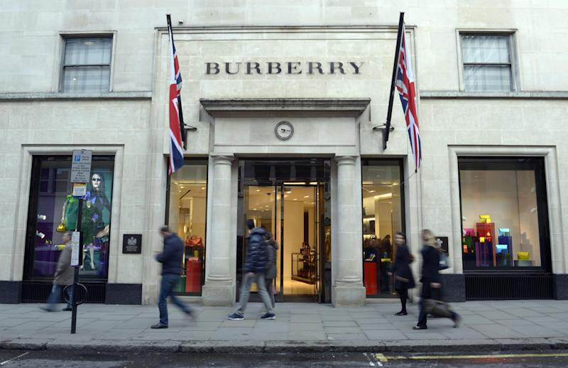 UK sales have fallen at fashion firm Burberry: PA Wire/PA Images