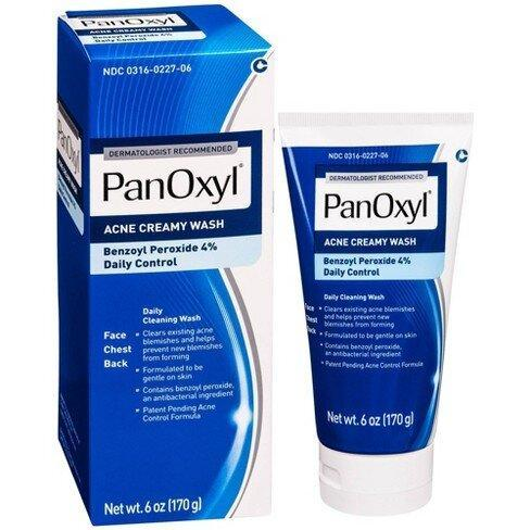 best-face-wash-for-acne-PanOxyl Creamy Facial Treatment Wash