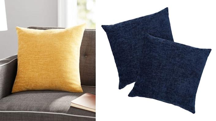 You can't beat the price on these simple throw pillows.