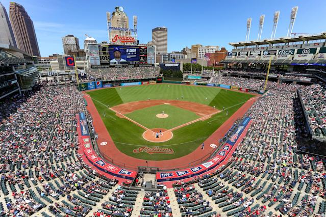 The All-Stars are coming to Cleveland's Progressive Field on July 7.. (Photo by Frank Jansky/Icon Sportswire via Getty Images)