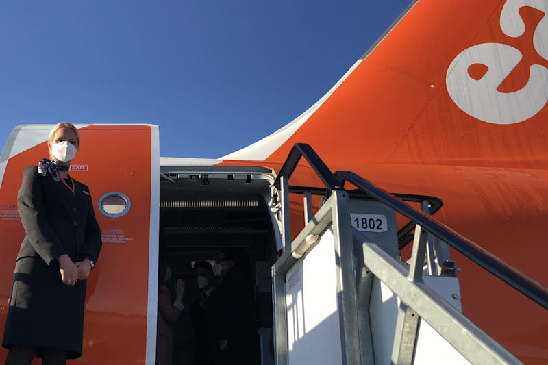 New age: easyJet's first flight for 11 weeks, from Gatwick to Glasgow: Simon Calder