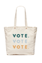 """<p><strong>FEED</strong></p><p>feedprojects.com</p><p><strong>$38.00</strong></p><p><a href=""""https://feedprojects.com/products/vote-vote-vote-tote"""" rel=""""nofollow noopener"""" target=""""_blank"""" data-ylk=""""slk:SHOP IT"""" class=""""link rapid-noclick-resp"""">SHOP IT</a></p><p>Help spread the word <em>and</em> provide 10 school meals to kids in need when you purchase this FEED vote tote. A portion of proceeds will also go towards When We All Vote.</p>"""