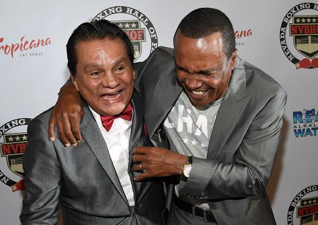 The rivalry between Roberto Duran and Sugar Ray Leonard is explored in the new documentary 'I Am Duran' (AFP Photo/Ethan Miller)