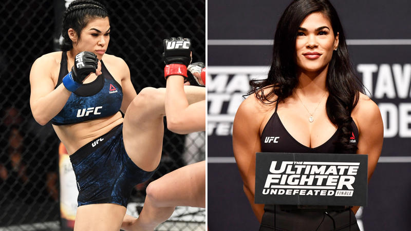Rachael Ostovich, pictured here competing in the UFC.