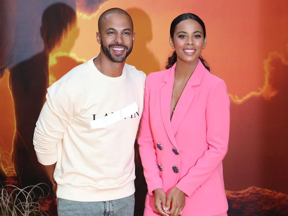 Rochelle and Marvin Humes are expecting their third child, pictured here at the premier of The Lion King in 2019.(Getty Images)