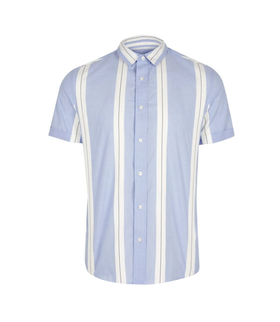 """<p><strong>RIVER ISLAND</strong></p><p>nordstrom.com</p><p><a href=""""https://go.redirectingat.com?id=74968X1596630&url=https%3A%2F%2Fwww.nordstrom.com%2Fs%2Friver-island-blocked-stripe-short-sleeve-button-up-shirt%2F5964213&sref=https%3A%2F%2Fwww.esquire.com%2Fstyle%2Fmens-fashion%2Fg37002225%2Fnordstrom-anniversary-sale-mens-fashion-deals-2021%2F"""" rel=""""nofollow noopener"""" target=""""_blank"""" data-ylk=""""slk:Shop Now"""" class=""""link rapid-noclick-resp"""">Shop Now</a></p><p><strong>Sale: <strong>$28.80</strong></strong></p><p><strong>After Sale: <strong><strong>$</strong>48.00</strong></strong></p><p>A striped shirt that reaches the vertical limit is more ways than one. </p>"""
