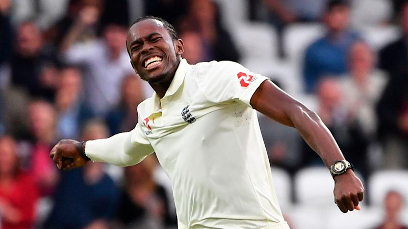 Jofra Archer took a superb six-wicket haul on day one of the third Test. Pic: Getty