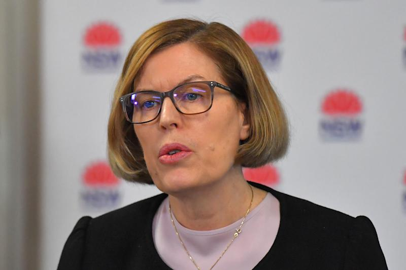 NSW Chief Health Officer Dr Kerry Chant sought to quell concerns about an outbreak. Source: AAP