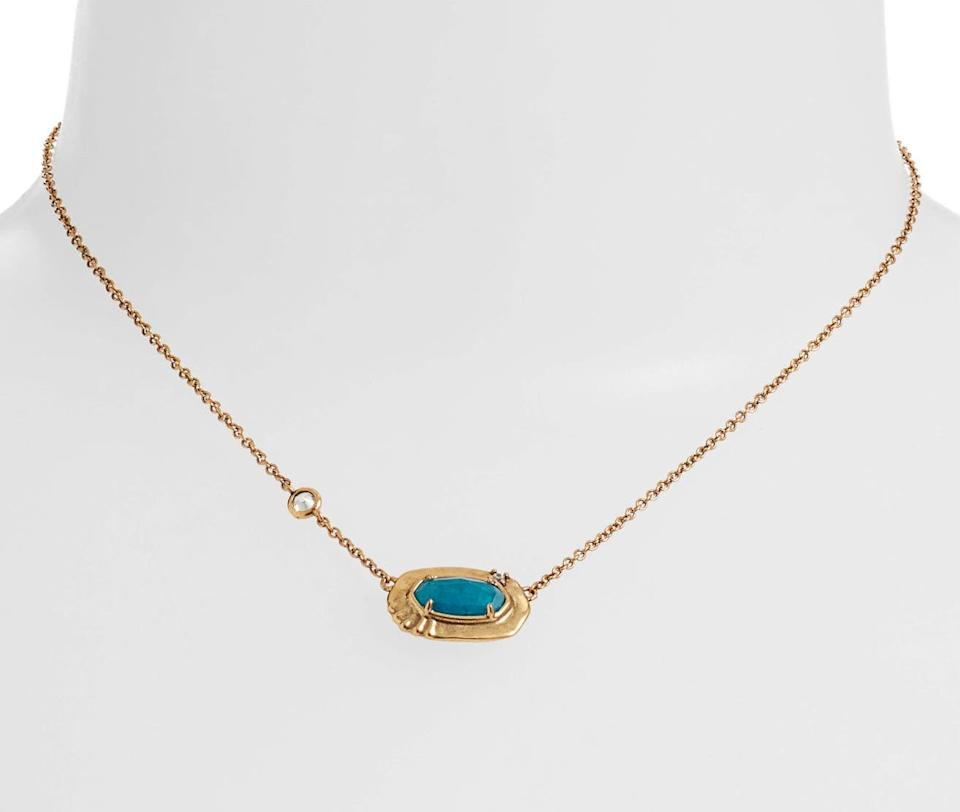 Kendra Scott Anna Short Pendant Necklace. Image via Nordstrom.