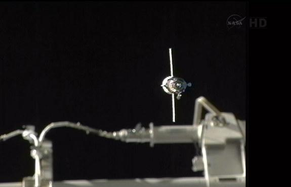 Robotic Russian Supply Ship Docks With Space Station