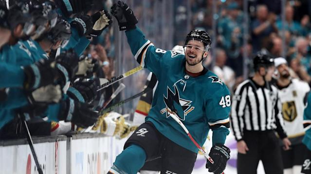 The Boston Bruins and San Jose Sharks posted road victories in Game 6 on Sunday, as NHL fans will get at least two Game 7s in the first round.