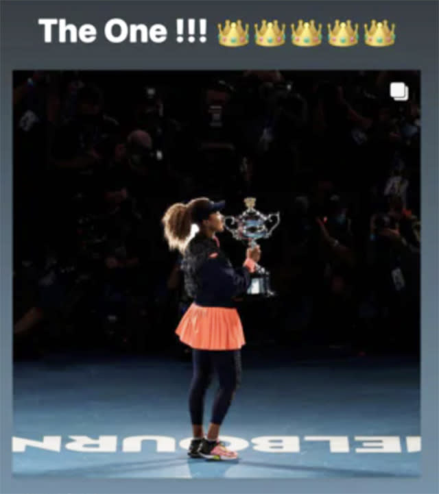Cordae, pictured here paying tribute to Naomi Osaka on Instagram.