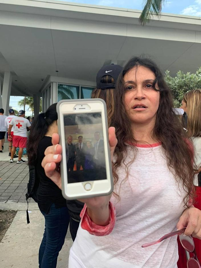 Soraya Cohen of Miami Beach at the family reunification center in Surfside waiting for news about her husband after the Champlain Towers South collapse.