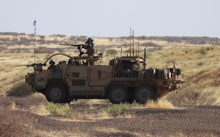 A Coyote vehicle of the British army Taskforce, on patrol in Mali. - George Christie/British Army