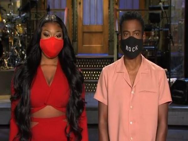 Megan Thee Stallion and Chris Rock at 'SNL' sets (Image courtesy: Instagram)