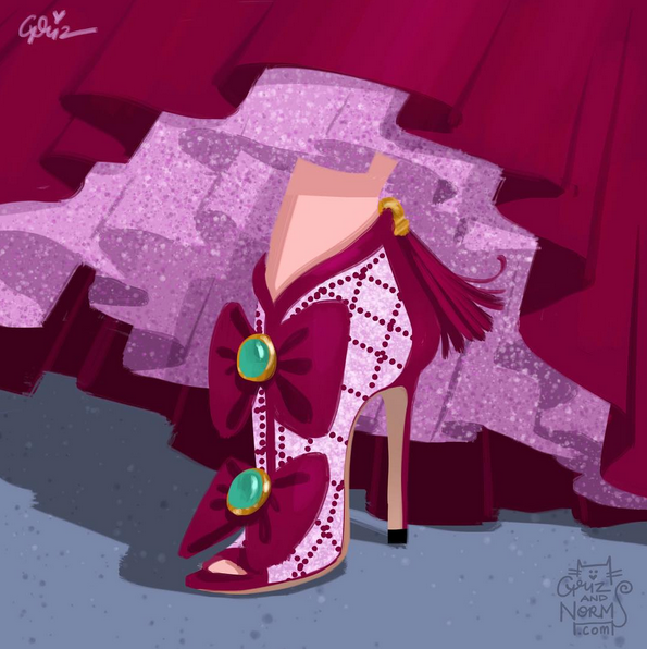 Stepmother Lady Tremaine in Chanel-inspired design.