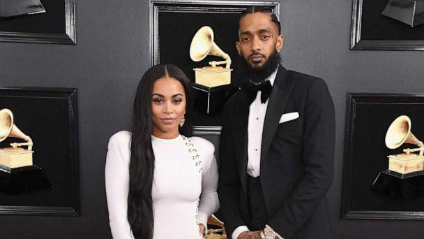 PHOTO: Lauren London and Nipsey Hussle attend the 61st Annual GRAMMY Awards at Staples Center on February 10, 2019 in Los Angeles, California. (Steve Granitz/WireImage/Getty Images)