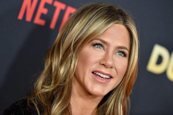"""<p>In 2018, Aniston directed and starred in <em>Dumplin'</em>, which was released by Netflix. In the film, Aniston plays <a href=""""https://www.elle.com/culture/celebrities/a25426565/jennifer-aniston/"""" rel=""""nofollow noopener"""" target=""""_blank"""" data-ylk=""""slk:Rosie,"""" class=""""link rapid-noclick-resp"""">Rosie,</a> a single mother trying to relive her beauty queen past by running her local pageant. The movie features <a href=""""https://variety.com/2018/music/news/dolly-parton-dumplin-best-song-candidate-1203047994/"""" rel=""""nofollow noopener"""" target=""""_blank"""" data-ylk=""""slk:original music"""" class=""""link rapid-noclick-resp"""">original music</a> by Dolly Parton.</p>"""