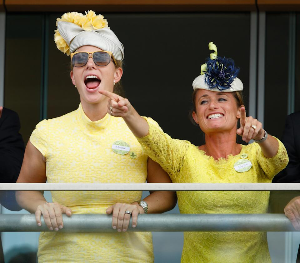 ASCOT, UNITED KINGDOM - JUNE 16: (EMBARGOED FOR PUBLICATION IN UK NEWSPAPERS UNTIL 48 HOURS AFTER CREATE DATE AND TIME) Zara Phillips and Dolly Maude watch the racing as they attend day 1 of Royal Ascot at Ascot Racecourse on June 16, 2015 in Ascot, England. (Photo by Max Mumby/Indigo/Getty Images)