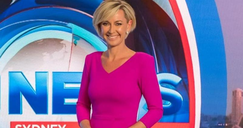 Former Today Show host Deborah Knight poses in front of nine news logo