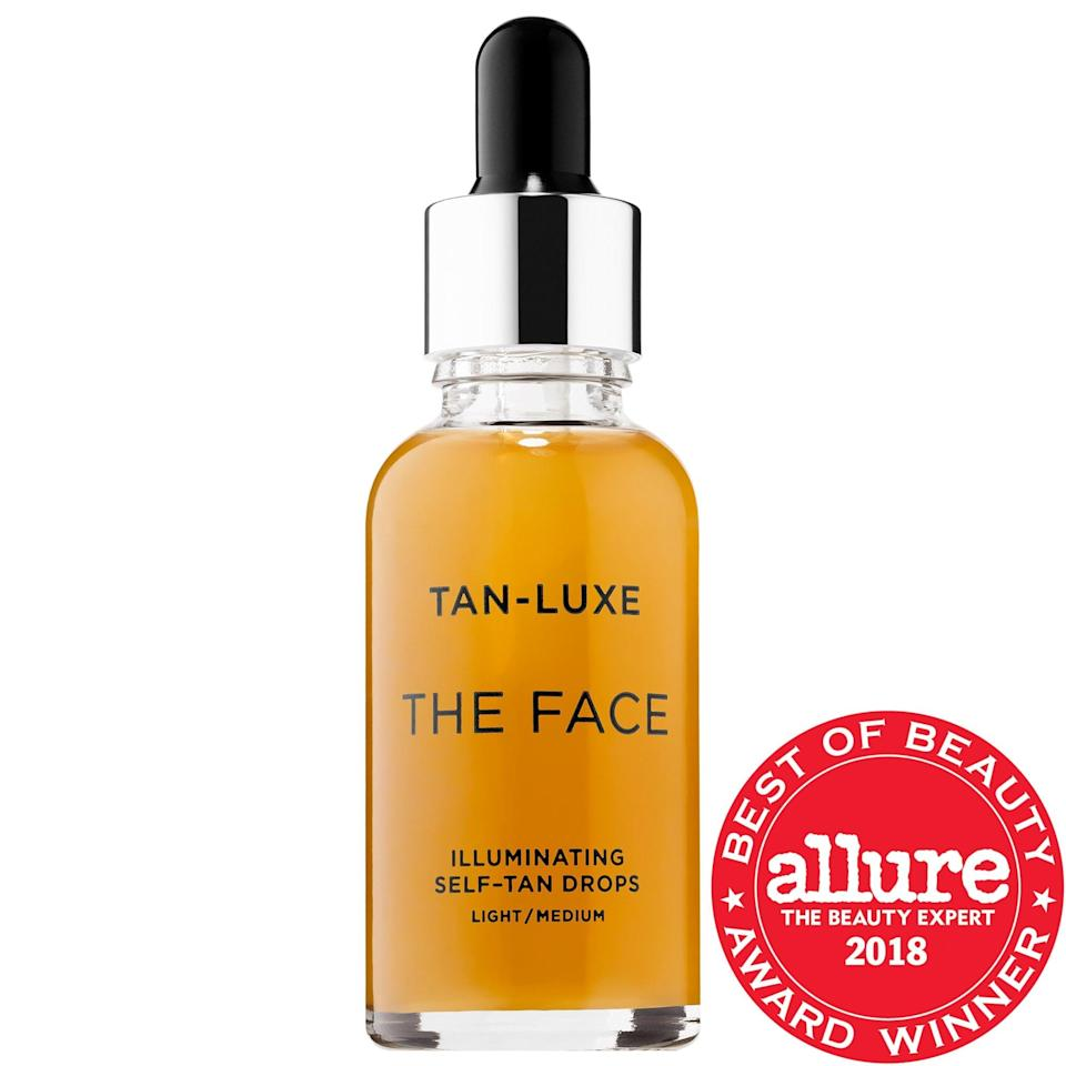 <p>The popular <span>Tan-Luxe The Face Illuminating Self-Tan Drops</span> ($49) can actually turn any moisturizer, serum, or face oil into a custom self tanner, even if your summer doesn't include <em>actual</em> time in the sun. Plus, skin gets an extra treat of soothing aloe vera and vitamin E at the same time.</p>