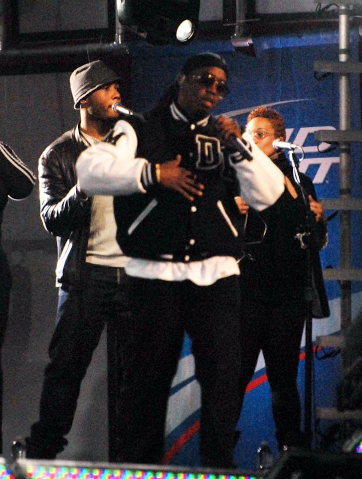 "Sean ""Diddy"" Combs held court at ""Jimmy Kimmel Live"" in Hollywood to promote his new album, which apparently has a lot of celebrity fans. ""Just worked out to @iamdiddy's new album ""Last Train To Paris"" its craaazyyy! Gets me motivated!"" tweeted Kim Kardashian Thursday. Nicole/<a href=""http://www.x17online.com"" target=""new"">X17 Online</a> - December 16, 2010"
