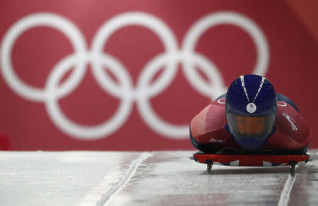 Skeleton - Pyeongchang 2018 Winter Olympics – Women's Finals - Olympic Sliding Center - Pyeongchang, South Korea – February 16, 2018 - Lizzy Yarnold of Britain. REUTERS/Edgar Su