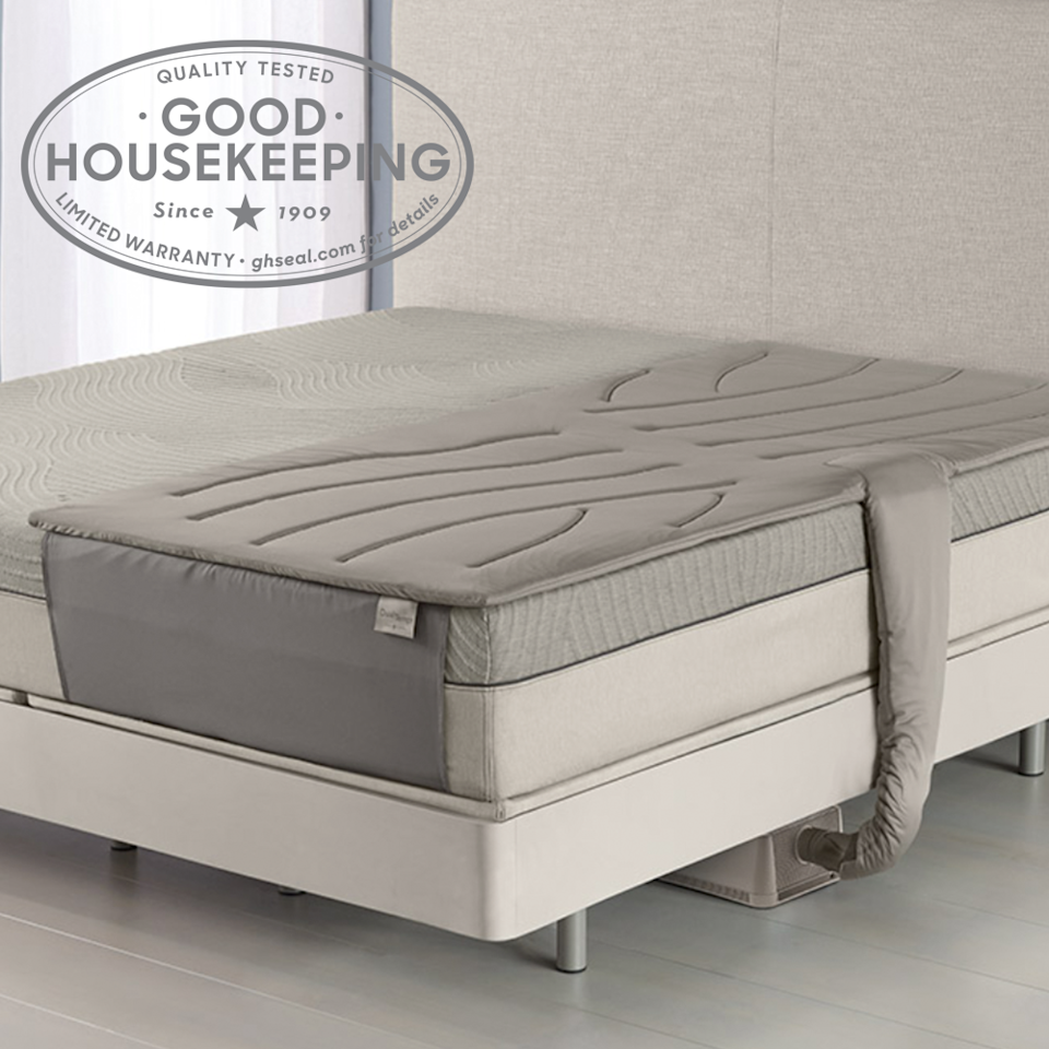 """<p><strong>Sleep Number </strong></p><p>sleepnumber.com</p><p><strong>$899.99</strong></p><p><a href=""""https://www.sleepnumber.com/sn/en/All-Bedding/Mattress-PadsLayers/p/dualtemp3"""" rel=""""nofollow noopener"""" target=""""_blank"""" data-ylk=""""slk:Shop Now"""" class=""""link rapid-noclick-resp"""">Shop Now</a></p><p><strong><a href=""""https://www.goodhousekeeping.com/institute/about-the-institute/a22148/about-good-housekeeping-seal/"""" rel=""""nofollow noopener"""" target=""""_blank"""" data-ylk=""""slk:Good Housekeeping Seal Holder"""" class=""""link rapid-noclick-resp"""">Good Housekeeping Seal Holder</a></strong></p><p>This mattress topper lets you control the temperature of your side of the bed while your sleeping partner can control theirs. With <strong>both cool and warm settings</strong> set from a remote, airflow technology changes the temperature of the pad. You can also set automatic shutoff if you do not want it running all night. Note that each side is sold separately, so to cover the entire mattress, you would need to purchase two.</p>"""