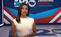Actress Eva Longoria hosted the first night of the Democratic National Convention
