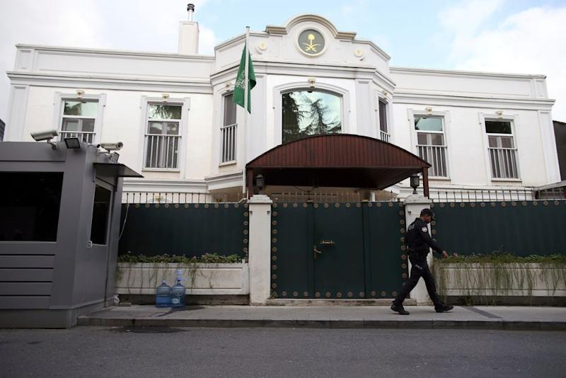The Saudi Arabian consulate in Istanbul
