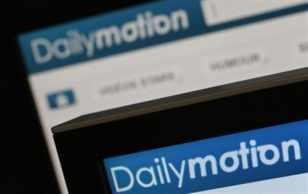 Dailymotion website pages opened in an internet browser are seen in this photo illustration taken in Paris