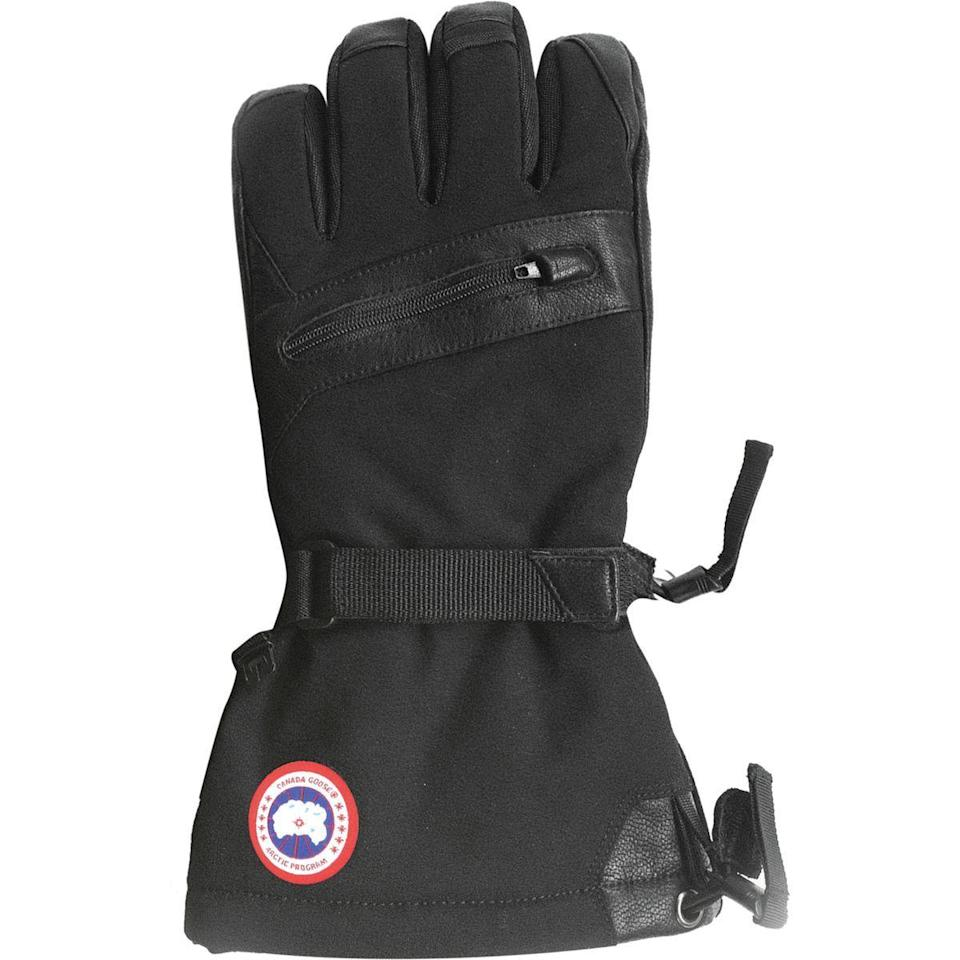 """<p><strong>Canada Goose</strong></p><p>backcountry.com</p><p><strong>$250.00</strong></p><p><a href=""""https://go.redirectingat.com?id=74968X1596630&url=https%3A%2F%2Fwww.backcountry.com%2Fcanada-goose-northern-glove&sref=https%3A%2F%2Fwww.menshealth.com%2Fstyle%2Fg30667174%2Fbest-winter-gloves-men%2F"""" rel=""""nofollow noopener"""" target=""""_blank"""" data-ylk=""""slk:BUY IT HERE"""" class=""""link rapid-noclick-resp"""">BUY IT HERE</a></p><p>For the most intense cold, try this heavy duty pair to keep you warm and dry. They're waterproof, touch screen capable, and down insulated.</p>"""