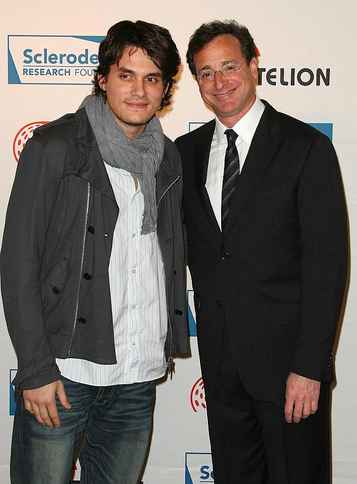 """John Mayer and Bob Saget arrive at the Scleroderma Research Foundation's """"Cool Comedy - Hot Cuisine"""" charity event at the Four Seasons in Beverly Hills. Jordan Strauss/<a href=""""http://www.wireimage.com"""" target=""""new"""">WireImage.com</a> - April 16, 2008"""