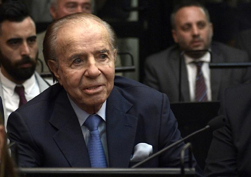 Argentine former president and current senator Carlos Menem has been acquitted of any role in a cover-up in connection with a deadly 1994 bombing of a Jewish Center in Buenos Aires