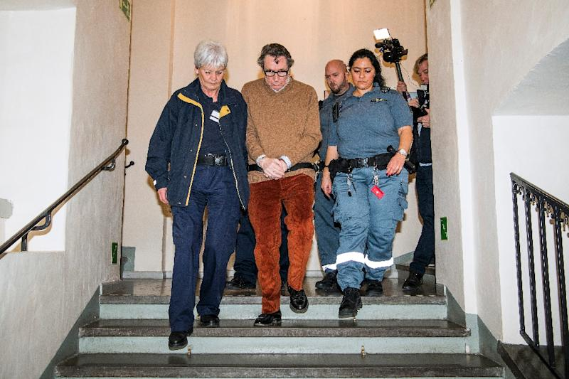 Once an influential figure in Stockholm's cultural scene, Jean-Claude Arnault (C) was in early December sentenced to two years and six months in prison for raping a woman