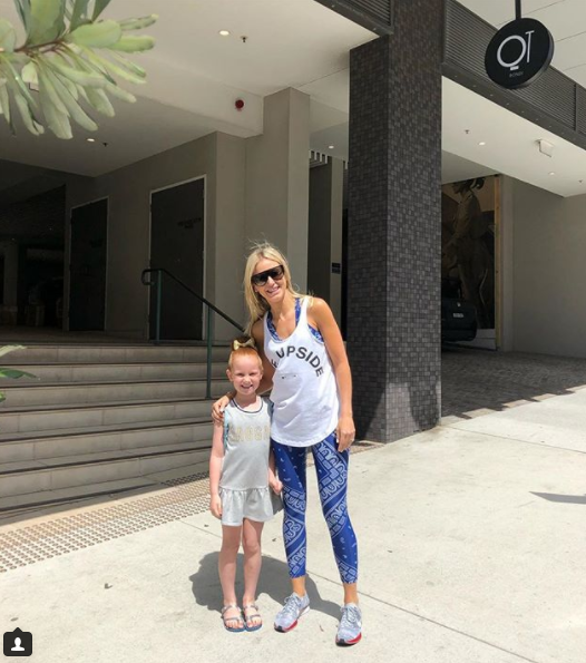 Roxy, seen here with daughter Pixie, usually opts for a much more casual look. Source: Instagram