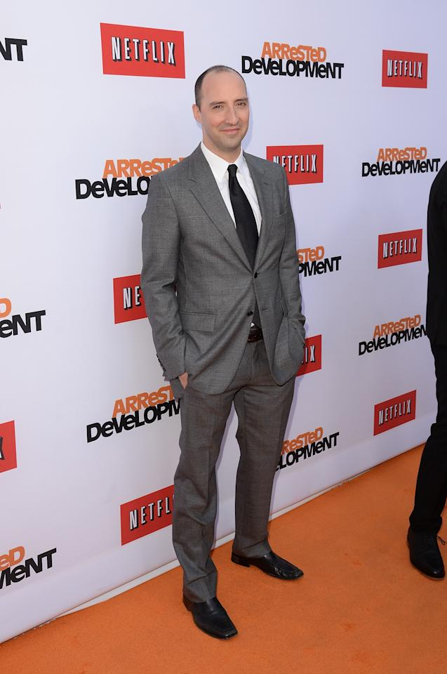 "HOLLYWOOD, CA - APRIL 29:  Actor Tony Hale arrives at the TCL Chinese Theatre for the premiere of Netflix's ""Arrested Development"" Season 4 held on April 29, 2013 in Hollywood, California.  (Photo by Jason Merritt/Getty Images)"