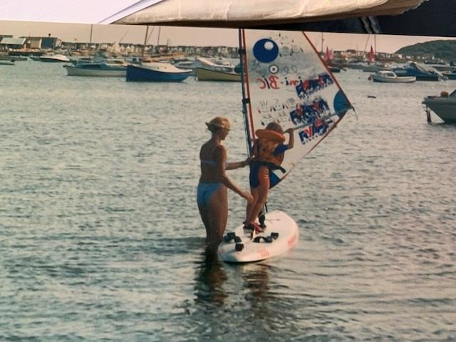 Christchurch Harbour was a natural playground for young Emma Wilson