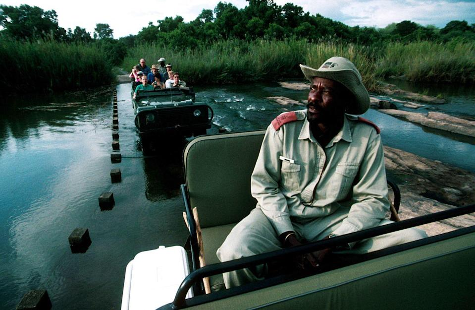 """<p>With the success of films like <em>Jumanji</em>, safari tours of <a href=""""https://www.southafrica.net/gl/en/"""" rel=""""nofollow noopener"""" target=""""_blank"""" data-ylk=""""slk:South Africa"""" class=""""link rapid-noclick-resp"""">South Africa</a>'s <a href=""""http://www.krugerpark.co.za/"""" rel=""""nofollow noopener"""" target=""""_blank"""" data-ylk=""""slk:Kruger National Park"""" class=""""link rapid-noclick-resp"""">Kruger National Park</a> were very popular in 1996. Tours (guided or not) showcased the reserve and all of its splendor. </p>"""