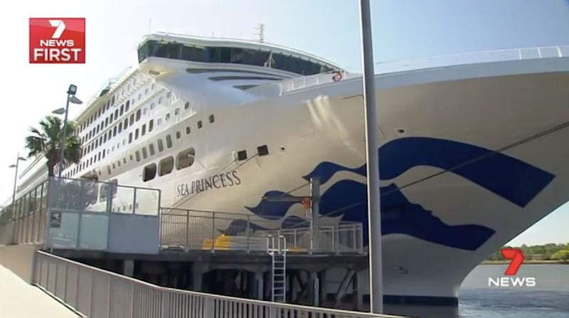 A rescue helicopter has transported a Sea Princess cruise passenger off the NSW coast to hospital. Source: 7 News, stock